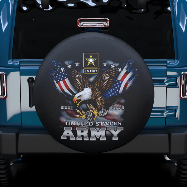US Army American Eagle Spare Tire Cover For Jeep/RV/Camper/SUV