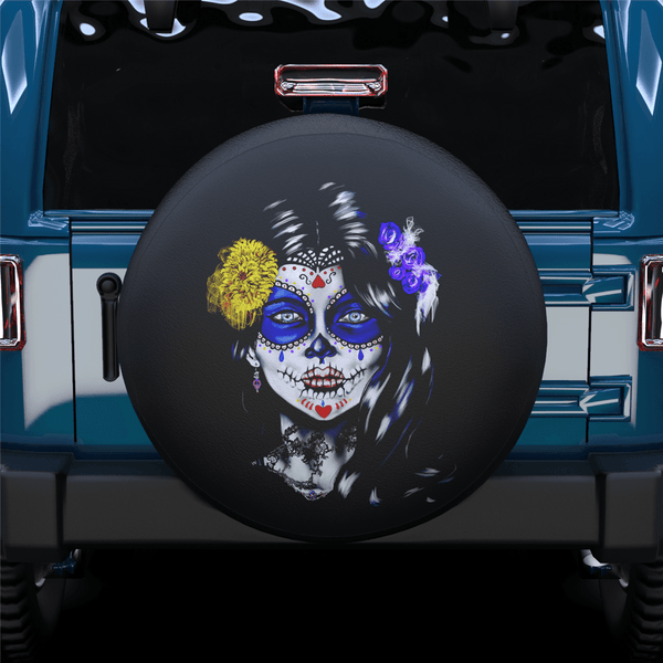Skull Face Spare Tire Cover For Jeep/RV/Camper/SUV