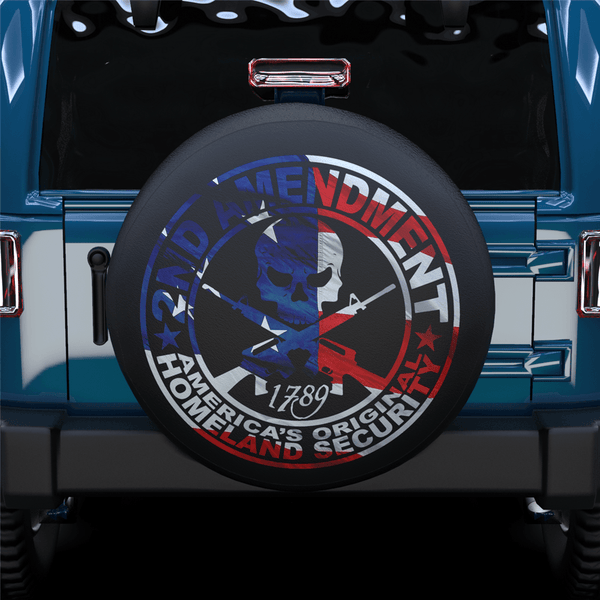 Color Gun Cross Spare Tire Cover For SUV