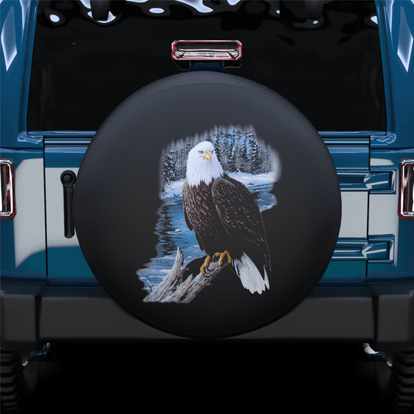 White Head Eagel Spare Tire Cover For Jeep/RV/Camper/SUV