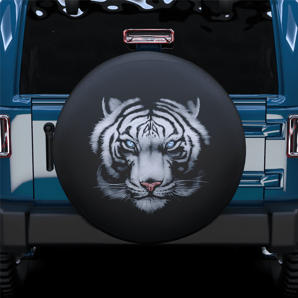 Tiger Head Spare Tire Cover For Jeep/RV/Camper/SUV