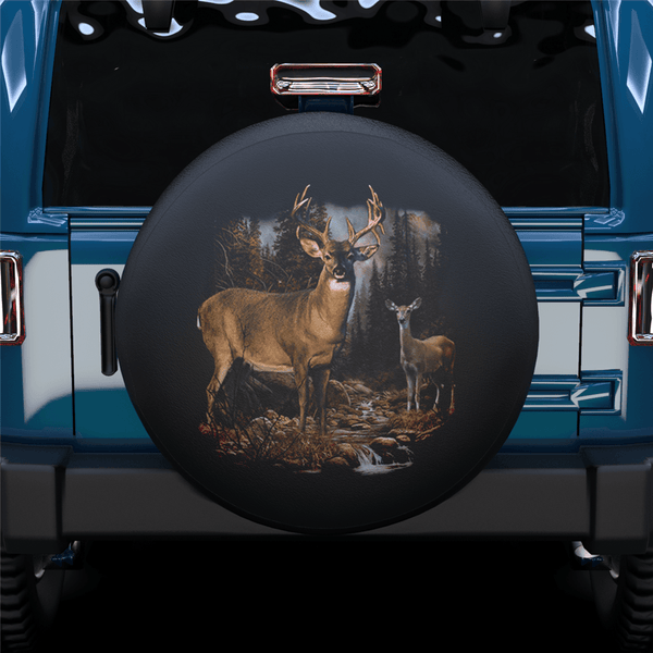 Fawn In The Forest Spare Tire Cover For Jeep/RV/Camper/SUV