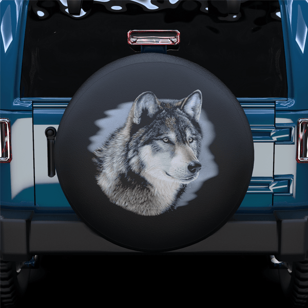 Wolf Head Spare Tire Cover For Jeep/RV/Camper/SUV