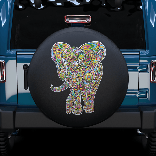 Color Art Elephant Spare Tire Cover