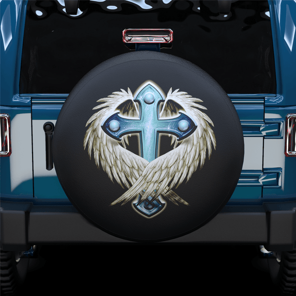 Cross Spare Tire Cover For Jeep/RV/Camper/SUV