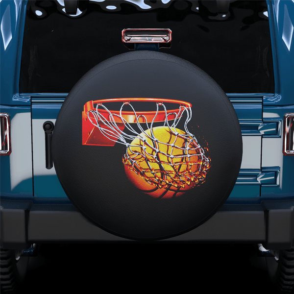 Hot Blood Basketball Frame Spare Tire Cover For Jeep/RV/Camper/SUV