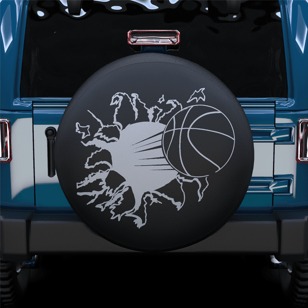 Hit By A Basketball Spare Tire Cover For Jeep/RV/Camper/SUV