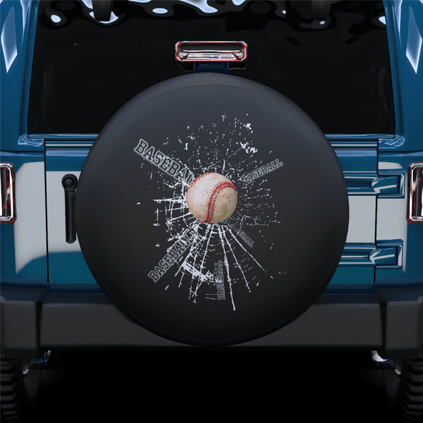 Baseball Spare Tire Cover For Jeep/RV/Camper/SUV