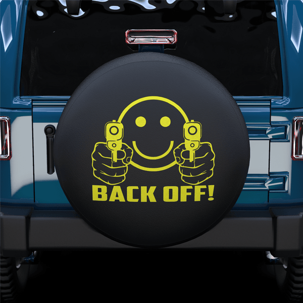 Back Off Spare Tire Cover For Jeep/RV/Camper/SUV