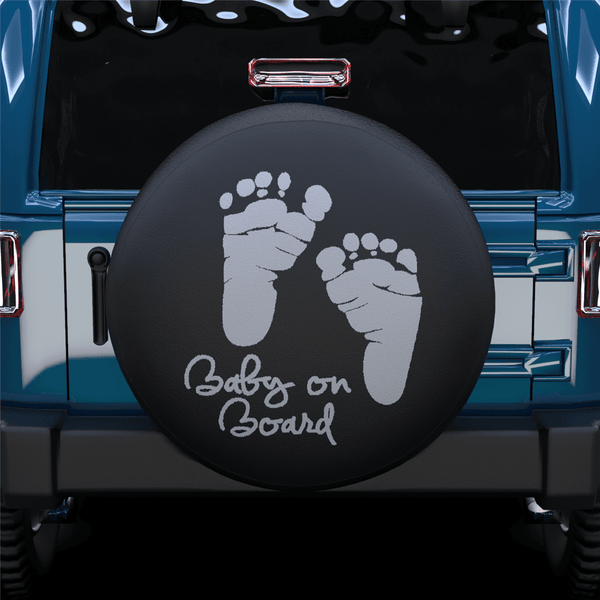 Baby On Board Spare Tire Cover For Jeep/RV/Camper/SUV