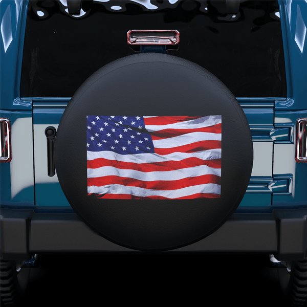 American Flag Spare Tire Cover For RV