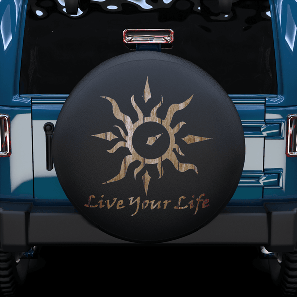 Sun Life Your Life Spare Tire Cover For Jeep/RV/Camper/SUV
