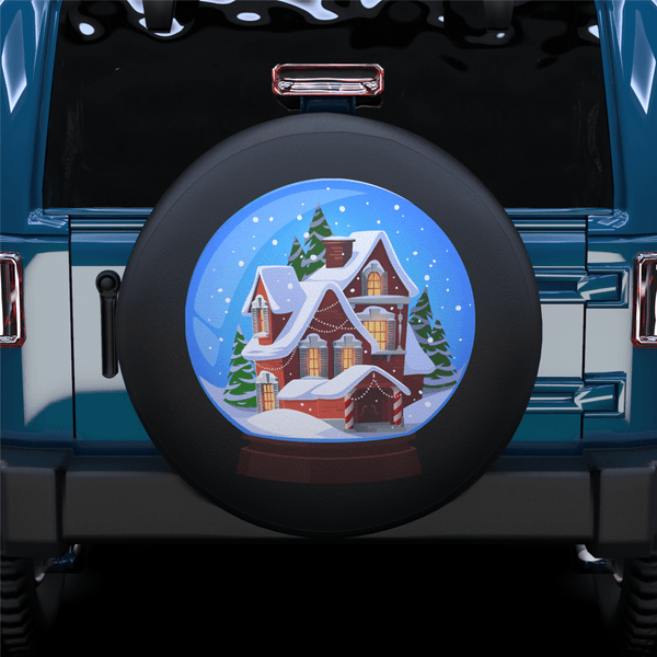 Snow Globe Spare Spare Tire Cover For RV