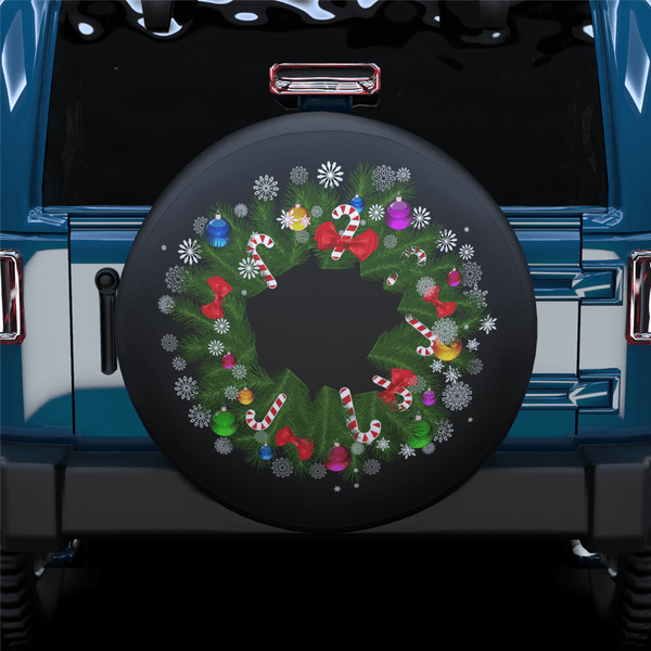 Christmas Wreath Spare Tire Cover For RV