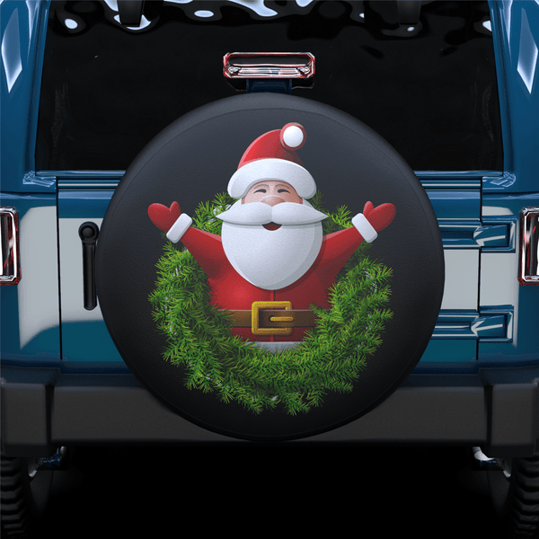 Santa Claus & Wreath Spare Tire Cover For RV