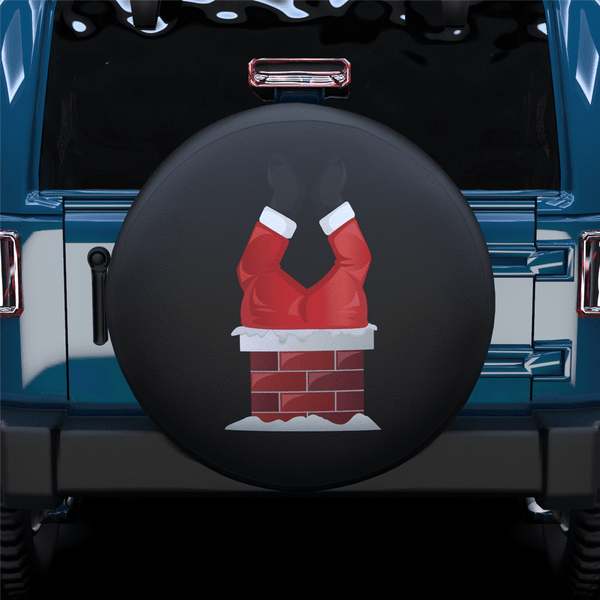 Santa Claus Chimney Spare Tire Cover For RV