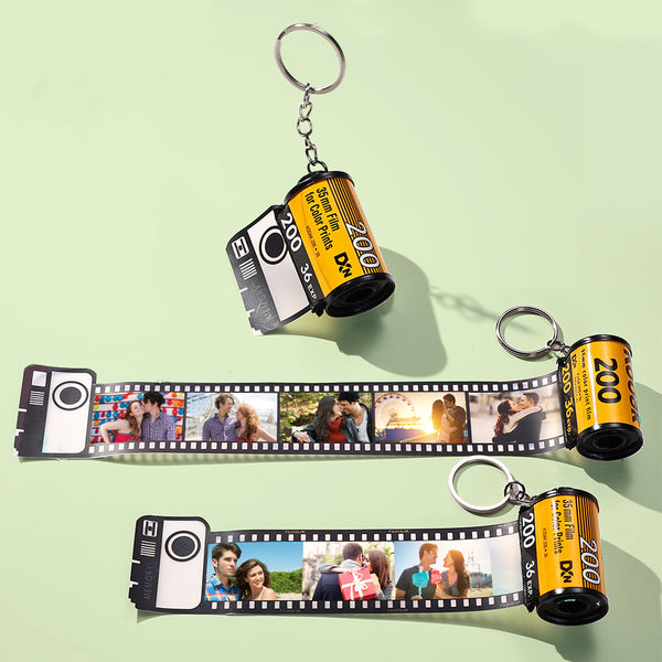 Custom Colorful Camera Roll Keychain - For Lover