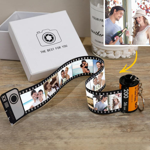 Custom Colorful Camera Roll Keychain - Couple