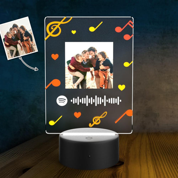 Spotify Code Personalized Led Light Lamp Custom Night Light Music Song Plaque
