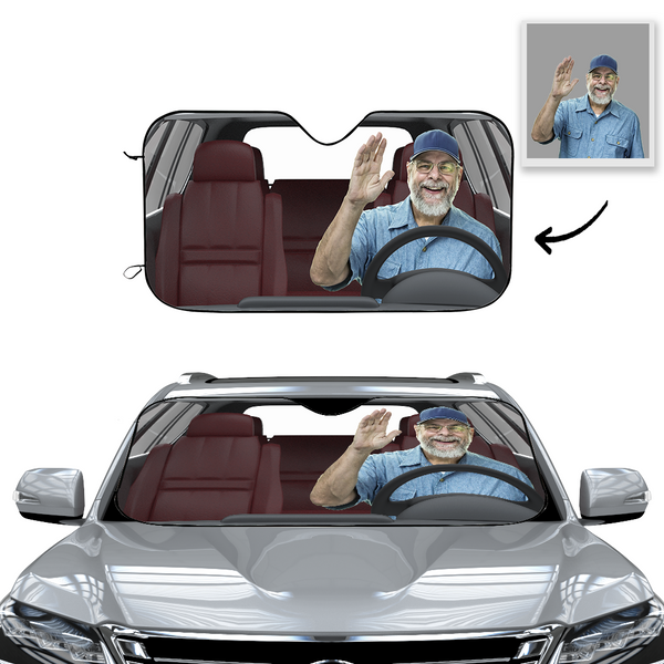 Custom Car Sun Shade-Hi Man!