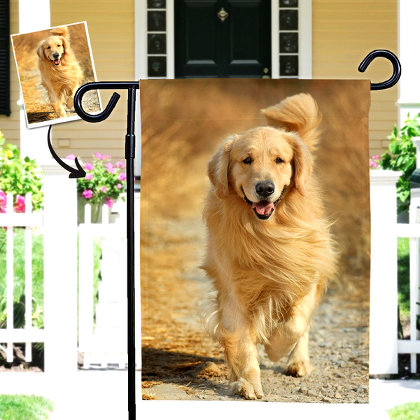 Custom Dog Photo Outdoor Garden Flag  (12in x 18in)