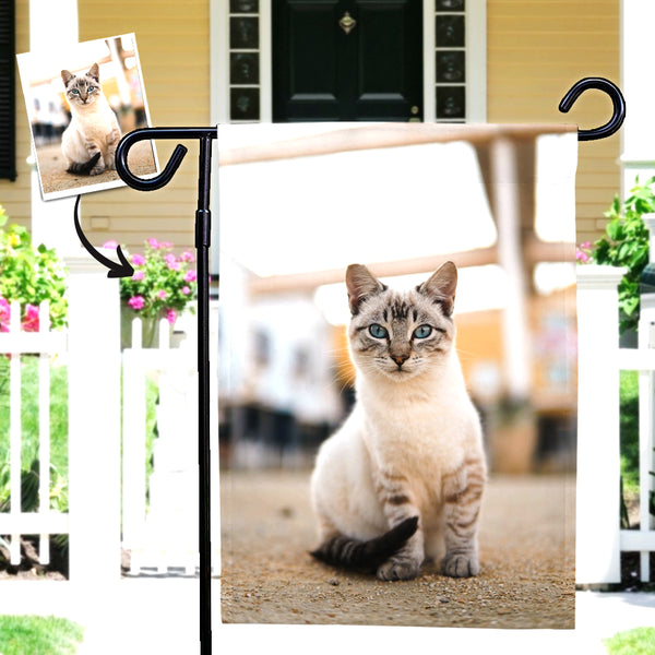 Custom Pet Photo Outdoor Garden Flag Courtyard Flag (12in x 18in)