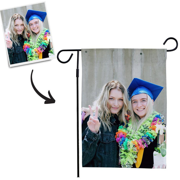 Personalized Garden Flags Outdoor Graduation Photo Garden Flag Same As You Upload Photo (12in x 18in)