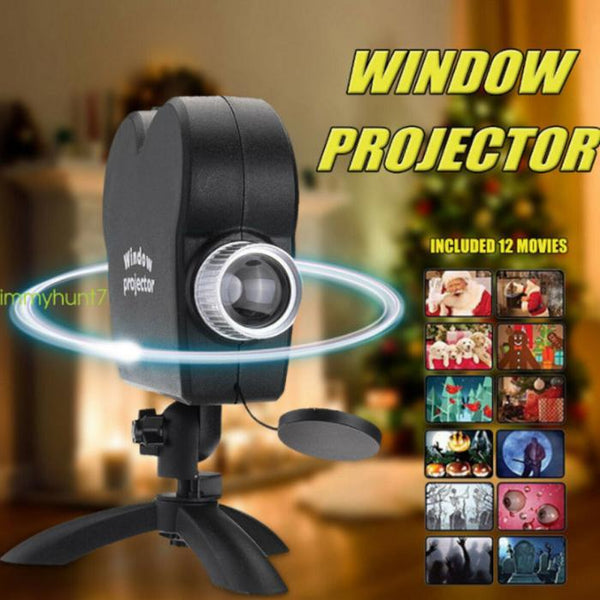 Christmas & Halloween - Window Projector 12 Movies Included