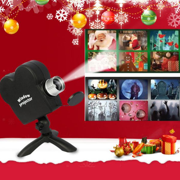 2020 Newest - Window Projector 12 Movies Included Christmas & Halloween