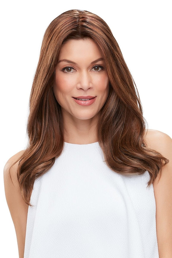 easiPart XL French Topper - 18inch Human Hair