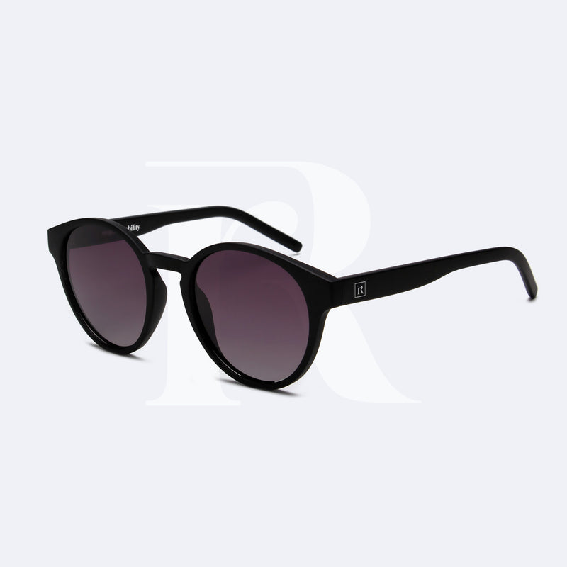 NESIA matte black w. purple lenses