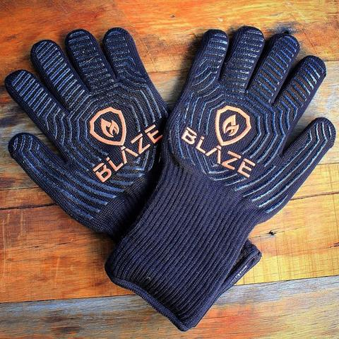 BLAZE - Heat Resistant BBQ Gloves - Full Throttle Barbeque