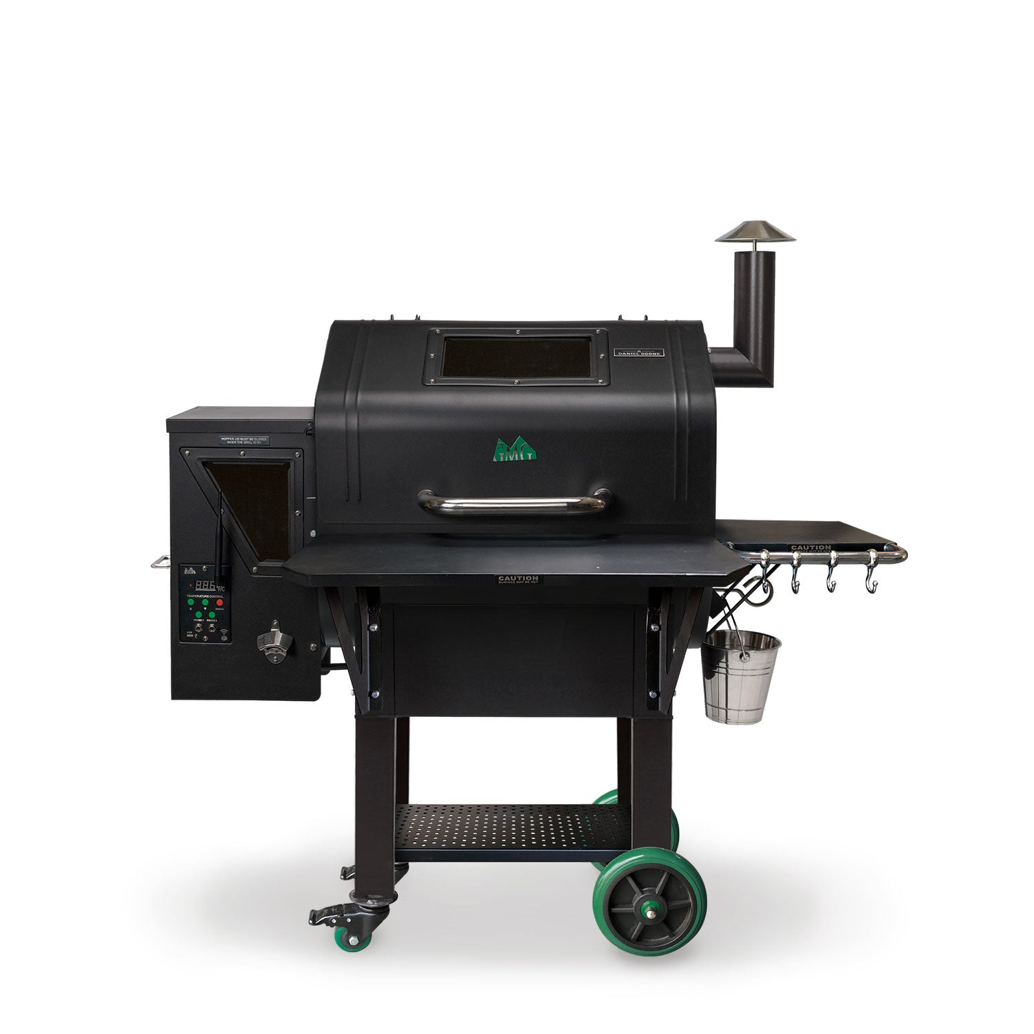 Green Mountian Grills Daniel Boone Prime plus WIFI Pellet Grill Black Hood - Full Throttle Barbeque