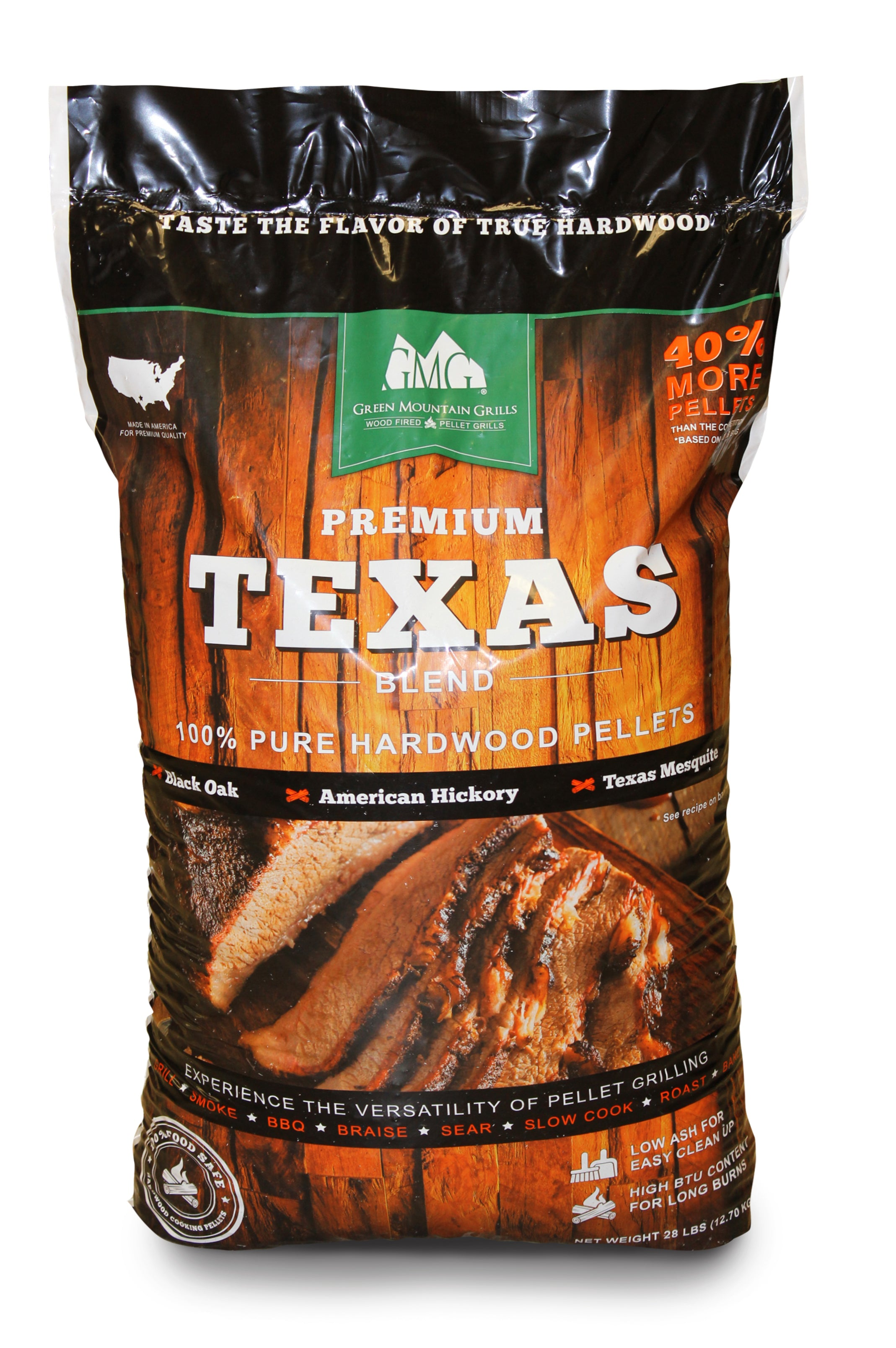 Green Mountian Grills Premium Texas Blend Pellets 12.7 kg - Full Throttle Barbeque