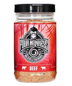 Four Monkeys BBQ Beef Rub - Full Throttle Barbeque