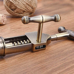 Professional Crank Operated Corkscrew Wine Opener