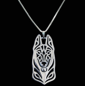 Abstract German Shepherd Dog Necklace