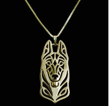 Load image into Gallery viewer, Abstract German Shepherd Dog Necklace