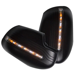 Door Mirror Cover-LED (Black) to suit Nissan Navara NP300	2014+