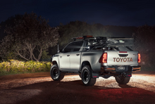 Load image into Gallery viewer, Taillight Covers (Matte Black with LED) fits Toyota Hilux 2015+
