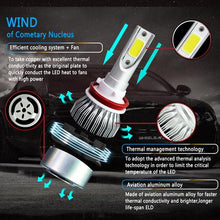 Load image into Gallery viewer, C6 LED Headlight Globe Kit Hi Low Beam Conversion