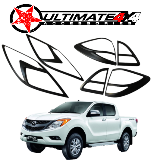 HEAD LIGHT & TAIL LIGHT COVERS COMBO for MAZDA BT50