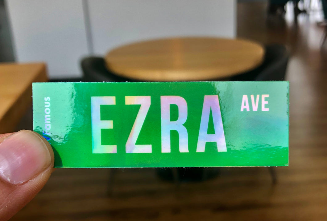 Ezra Ave Holographic Sticker
