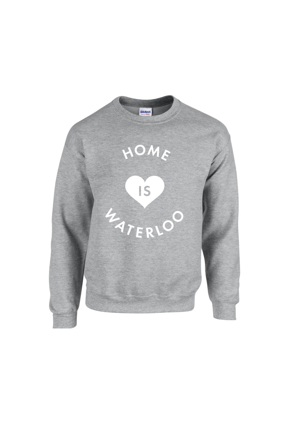 Home is Waterloo Crew Neck - Grey