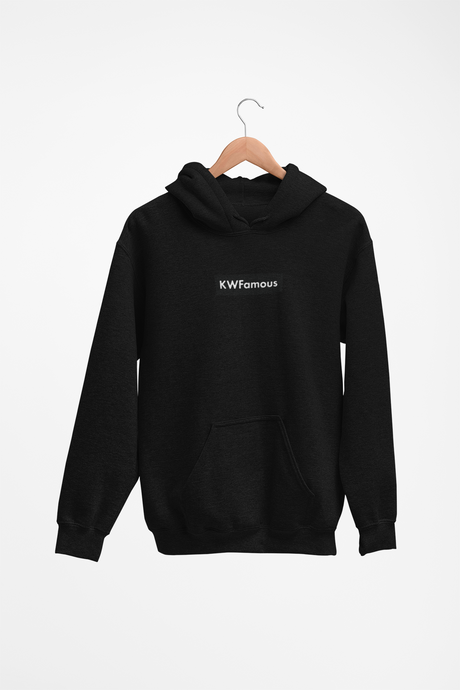 KWFamous (Black) - Black Hoodie with embroidery