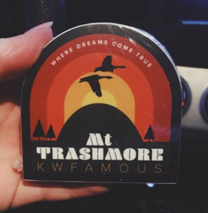 Mt Trashmore Sticker