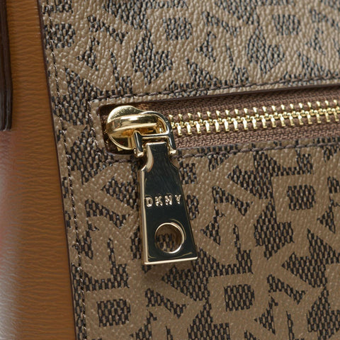 DKNY Coated logo top zip cross body bag