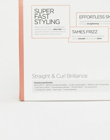 Straight and Curl Brilliance Hair Straightener
