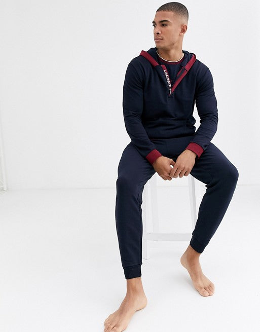 Millennials Lounge logo hoodie in navy SUIT 7