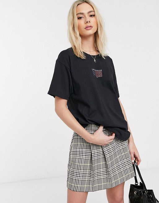 oversized t-shirt with vintage los angeles print